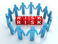 Team risk management d render close up Royalty Free Stock Photo
