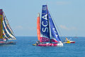 Team SCA All Woman Female Ladies Sailing Yacht Racing Crew Royalty Free Stock Photo