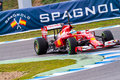 Team Scuderia Ferrari F1, Fernando Alonso, 2014 Royalty Free Stock Photography
