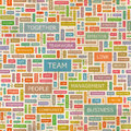 Team seamless pattern concept related words in tag cloud conceptual info text graphic word collage Royalty Free Stock Photography