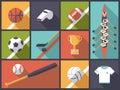 Team Sports Flat Design Icons ...