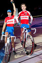 Team Stam van Bon at Sixday-Nights Zuerich Stock Photo