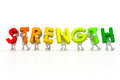 Team strength d isolated holding word Royalty Free Stock Images