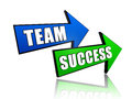 Team and success in arrows Royalty Free Stock Photos