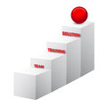 Team training solution stairs d vector on white background Royalty Free Stock Photo