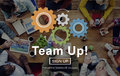 Team Up Teamwork Collaboration Togetherness Concept Royalty Free Stock Photo