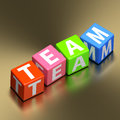 Team word on toy blocks teamwork concept colorful Stock Photos