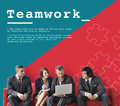 Team Work Collaboration Cooperation Concept Royalty Free Stock Photo