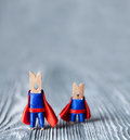 Team work conceptual image. Clothespins superheroes. copy space Royalty Free Stock Photo