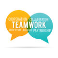 Team work speech talk bubble Fotografia Stock
