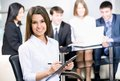 Team work young business women and her Royalty Free Stock Image
