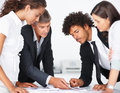 Team working together during a meeting Stock Photo