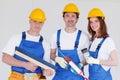 Team of workmen Royalty Free Stock Photo