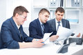 Team of young business men working together Royalty Free Stock Photo