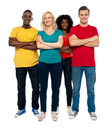 Team of young people posing in style Royalty Free Stock Images