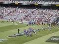 Teams leave field. Royalty Free Stock Image