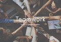 Teamwork Alliance Collaboration Company Team Concept Royalty Free Stock Photo