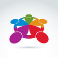 Teamwork and business team and friendship icon, social group, or Royalty Free Stock Photo