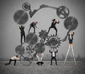 Teamwork of businesspeople Royalty Free Stock Photo