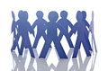 Teamwork concept - paper cut people Stock Photography