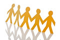 Teamwork concept - paper cut people Royalty Free Stock Photo