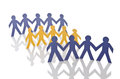 Teamwork concept  - paper cut people Royalty Free Stock Photos