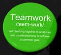 Teamwork Definition Button Royalty Free Stock Image