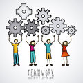 Teamwork design over gray background vector illustration Royalty Free Stock Images