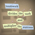 Teamwork Divides Task Multiplies Success Stock Photos
