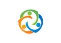 teamwork, education, logo, social, team, network, design,vector,logotype,illustration Royalty Free Stock Photo
