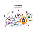 Teamwork Graphic Design Style Modern