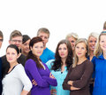 Teamwork - Group of people standing together Stock Photos