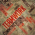 Teamwork grunge wordcloud see my other works in portfolio Royalty Free Stock Photo