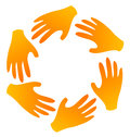 Teamwork hands logo Stock Images