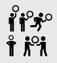 Teamwork icons over white background vector ilustration Stock Photography