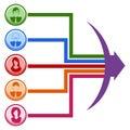 Teamwork Line Chart Royalty Free Stock Photo