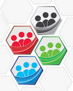 Teamwork logo pack Royalty Free Stock Images