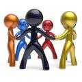 Teamwork men circle individuality people social network Royalty Free Stock Photo