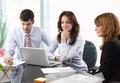 Teamwork in the office contemporary business people working team Stock Images