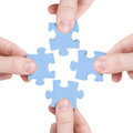 Teamwork and partnership  concept Stock Image
