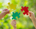 Teamwork and partnership conceptual image Royalty Free Stock Photos