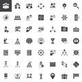 Teamwork and partnership vector icons set