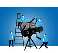 Teamwork : Projection team Royalty Free Stock Photo