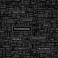Teamwork seamless pattern word cloud illustration Royalty Free Stock Image