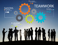Teamwork Team Group Gear Partnership Cooperation Concept Royalty Free Stock Photo