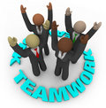 Teamwork - Team Members in Circle Royalty Free Stock Photos