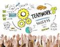 Teamwork team together collaboration hands volunteer konzept Lizenzfreies Stockfoto