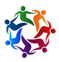 Teamwork union business partners people icon concept Stock Photo