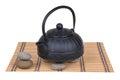 Teapot black iron kettle isolated on white background Royalty Free Stock Photos