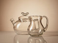 Teapot and creamer Stock Images
